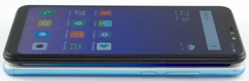 Сверху - Note 6 Pro, снизу - Note 5 Pro
