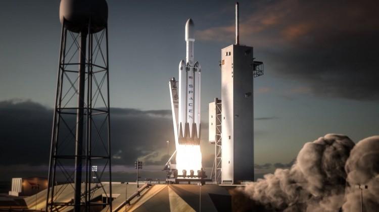 Испытательный запуск SpaceX Falcon Heavy