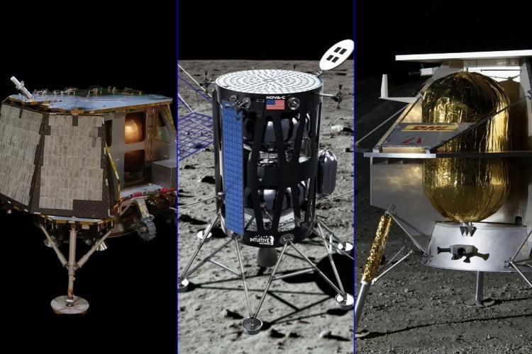 Посадочные аппараты Orbit Beyond, Intuitive Machines и Astrobotic